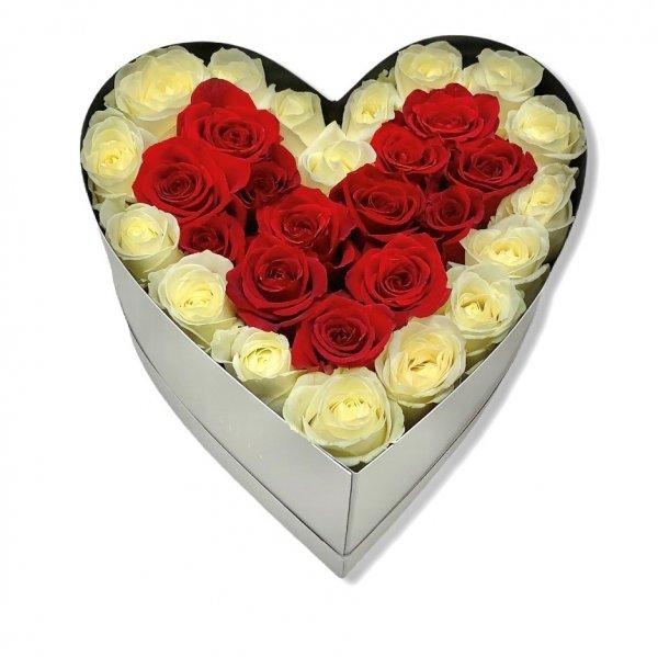 floral arrangement of red roses