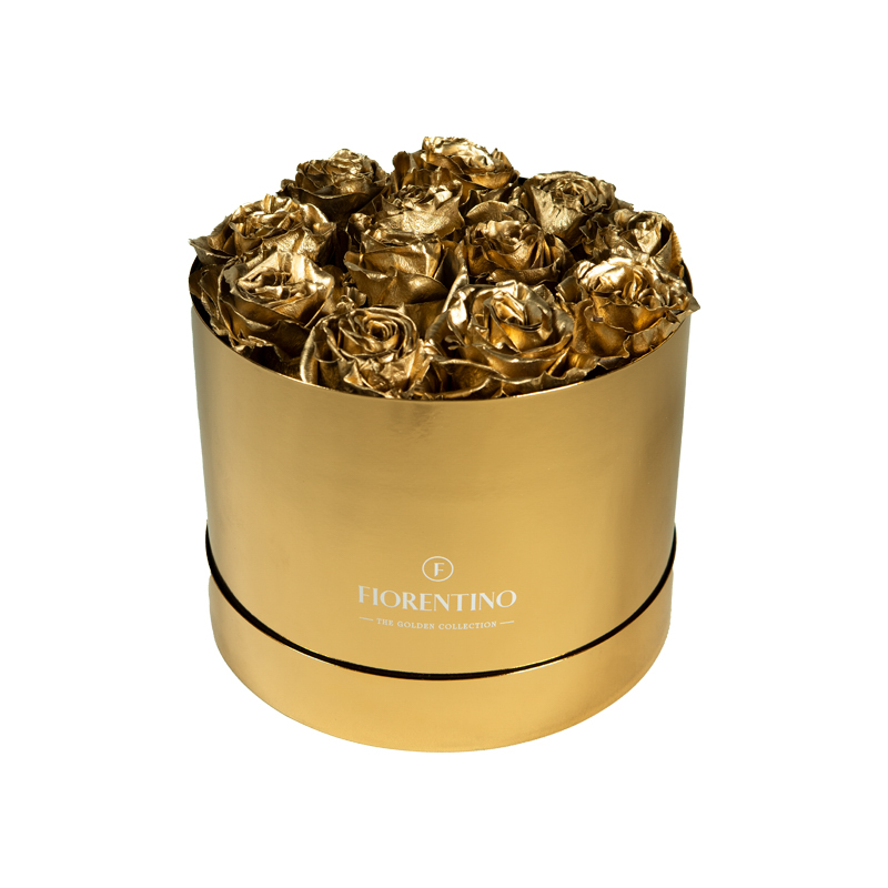 ROUND GOLDEN BOX