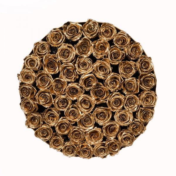 τριαντάφυλλα χρυσά σε κουτί